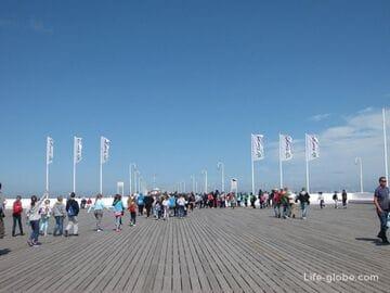 Мол в Сопоте - крупнейшая в Европе деревянная морская пристань