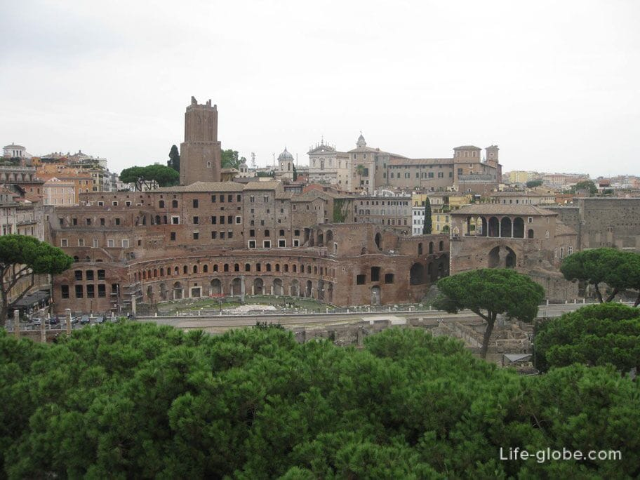 view of the Trajan's Forum in Rome