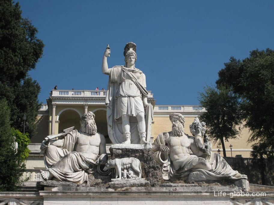 скульптурная композиция фонтана ди Рома