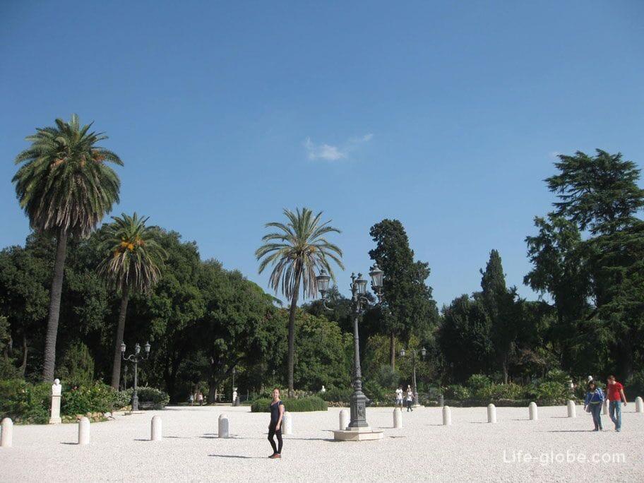 сады Пинчо, Рим, Италия