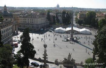 Del Popolo square in Rome, Italy