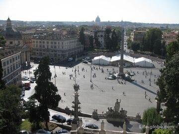 Площадь дель Пополо в Риме, Италия