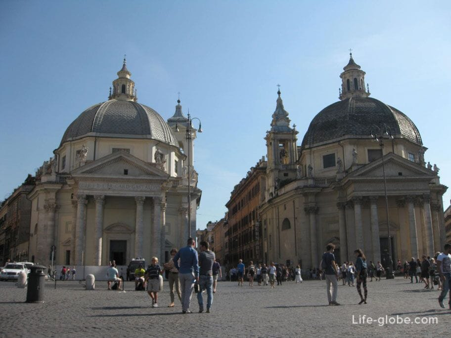 Храмы-близнецы Санта-Мария-Монтесанто и Санта-Мария деи Мираколи