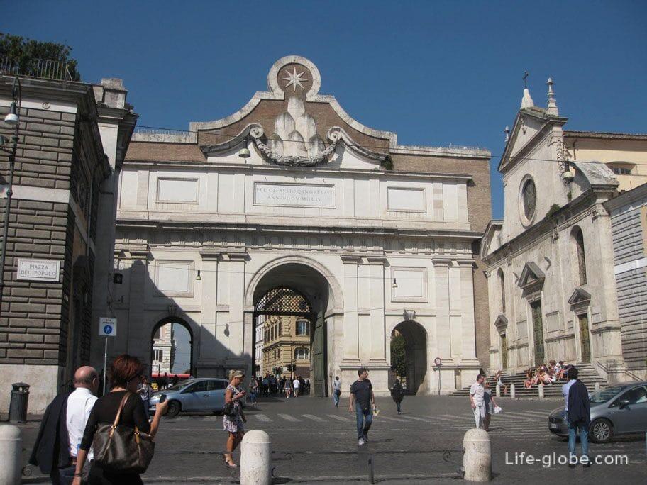 паломнические ворота дель Пополо, порто дель Пополо