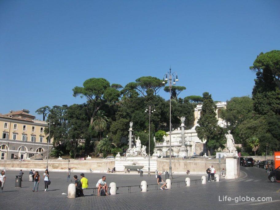 Пьяцца дель Пополо, Рим, Италия