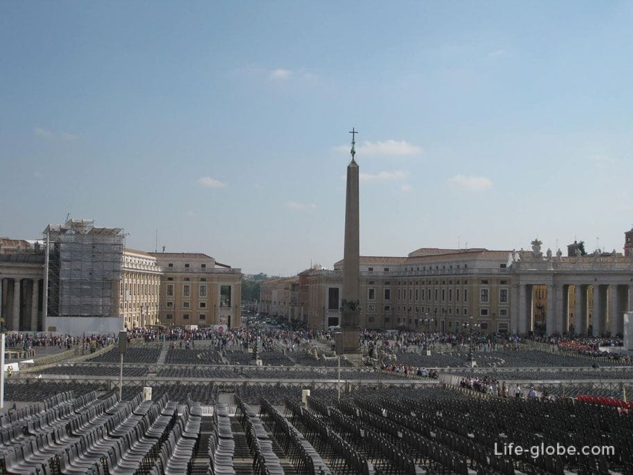 Egyptian Obelisk at St. Peter's Square in Vatican