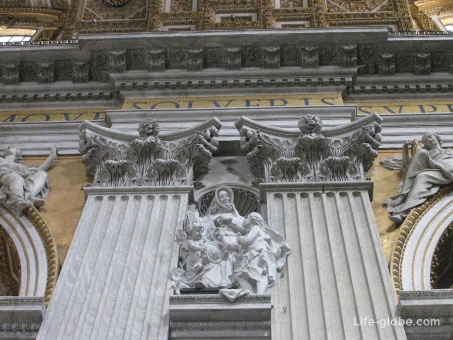 stucco molding of St. Peter's Basilica