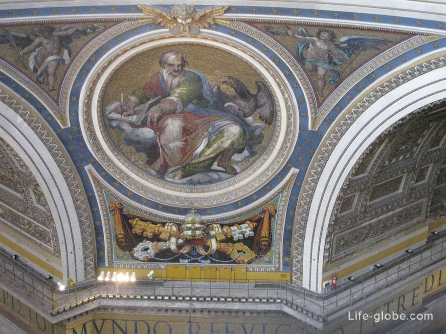 drawings of the dome in St. Peter's Basilica