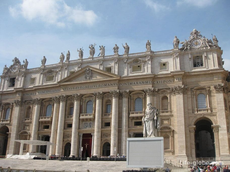 the main building of the Vatican