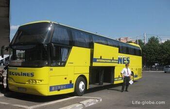 Международные автобусы Эколайн (ECOLINES). Где и как купить билет, сколько стоят билеты, описание и фото автобусов