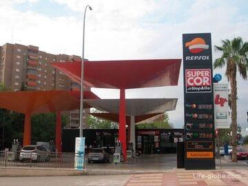 Бензин в Испании