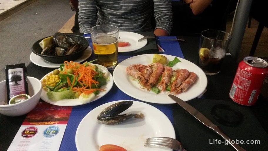 Блюда Аликанте - Морепродукты