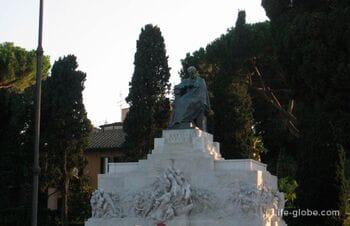 Monument to Giuseppe Mazzini in Rome