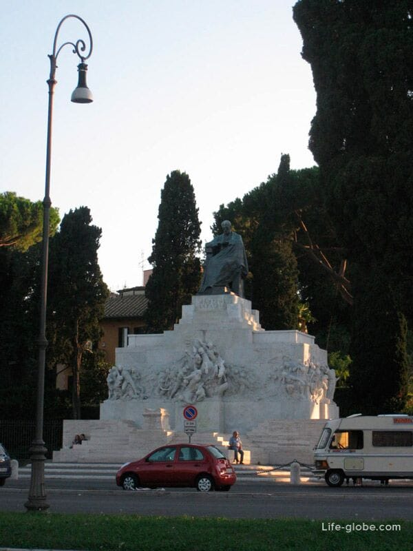 Monument to Giuseppe Mazzini in Rome, Italy