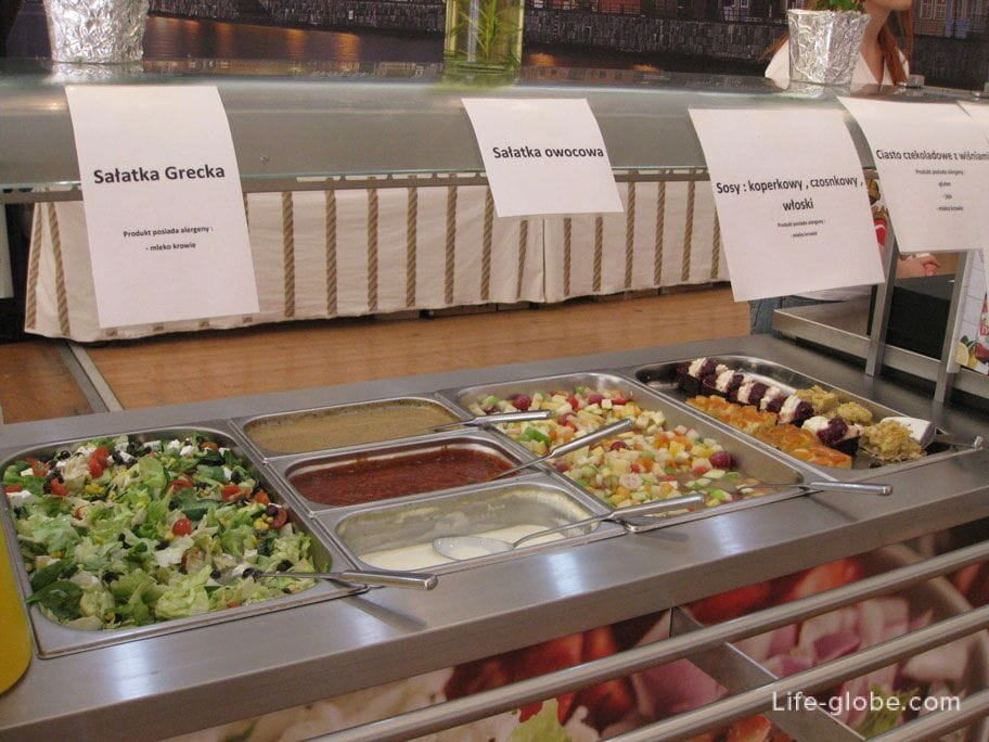 salads in the Gdansk tent