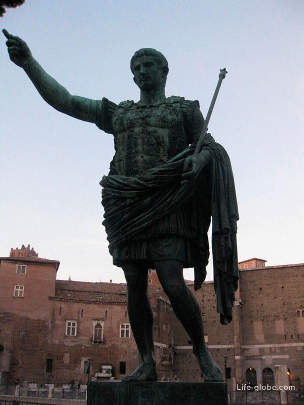 Caesar statue, Rome, Italy