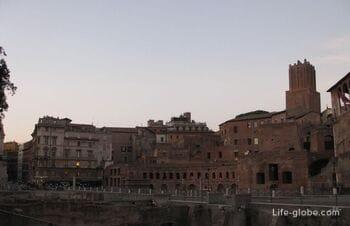 Форум Траяна в Риме. А также колонна Траяна и церкви на Эспланаде форума