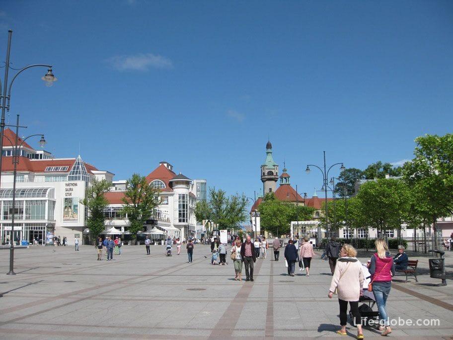 square in Sopot
