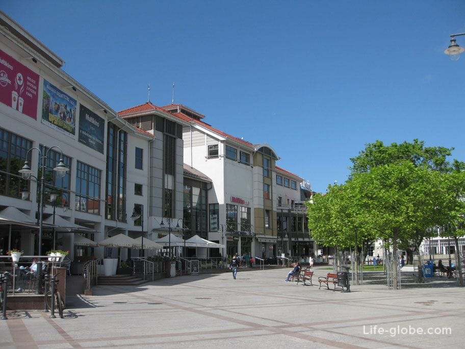 shopping center on the main square of the city
