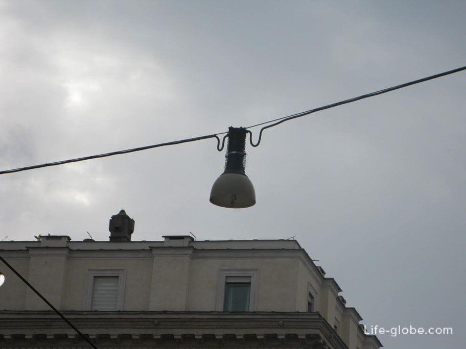 уличные фонари в Риме