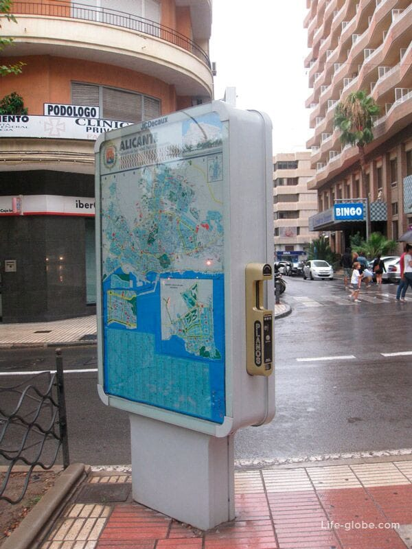Карты города в Аликанте