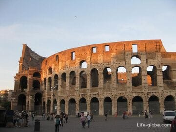 Colosseum - Roman amphitheater in Italy