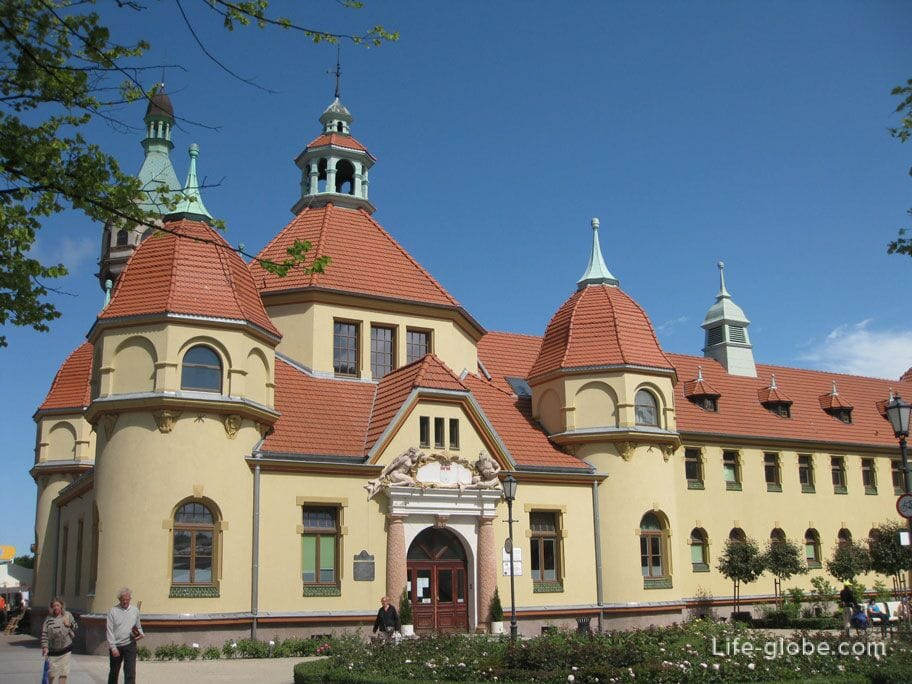 sights of Sopot - the most beautiful hospital in the city