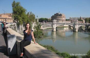 Самые красивые и знаменитые Мосты Рима - Святого Ангела и Виктора Эммануила II