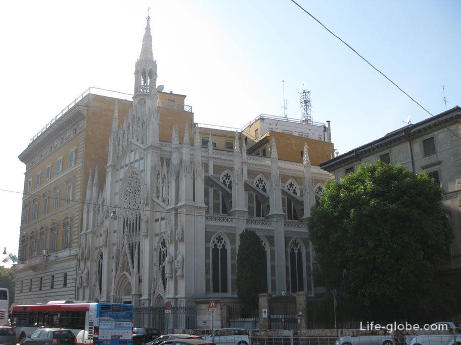 церковь-приход Святого Сердца Иисуса Христа в Прати, Рим