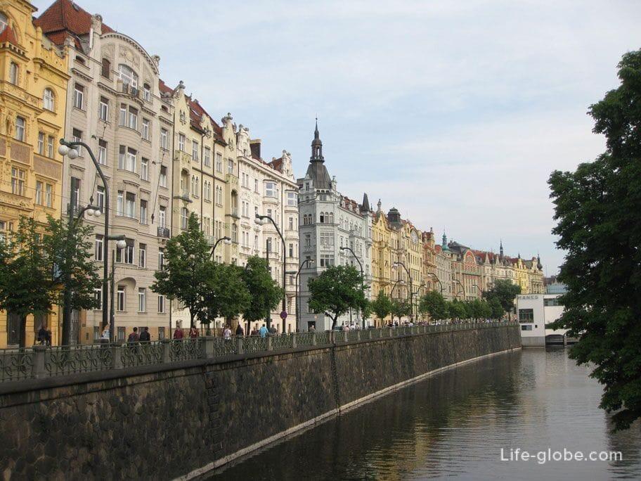 Достопримечательности Праги - набережные Праги