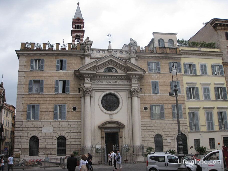 Church of Santa Brigida in Piazza Farnese in Rome