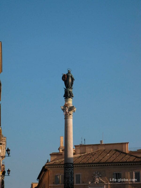 Immaculate Column, Plaza of Spain, Rome