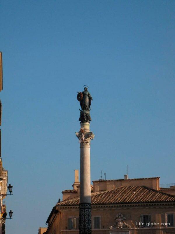 колонна Непорочной, площадь Испании, Рим