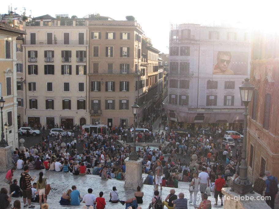square of Spain, Rome