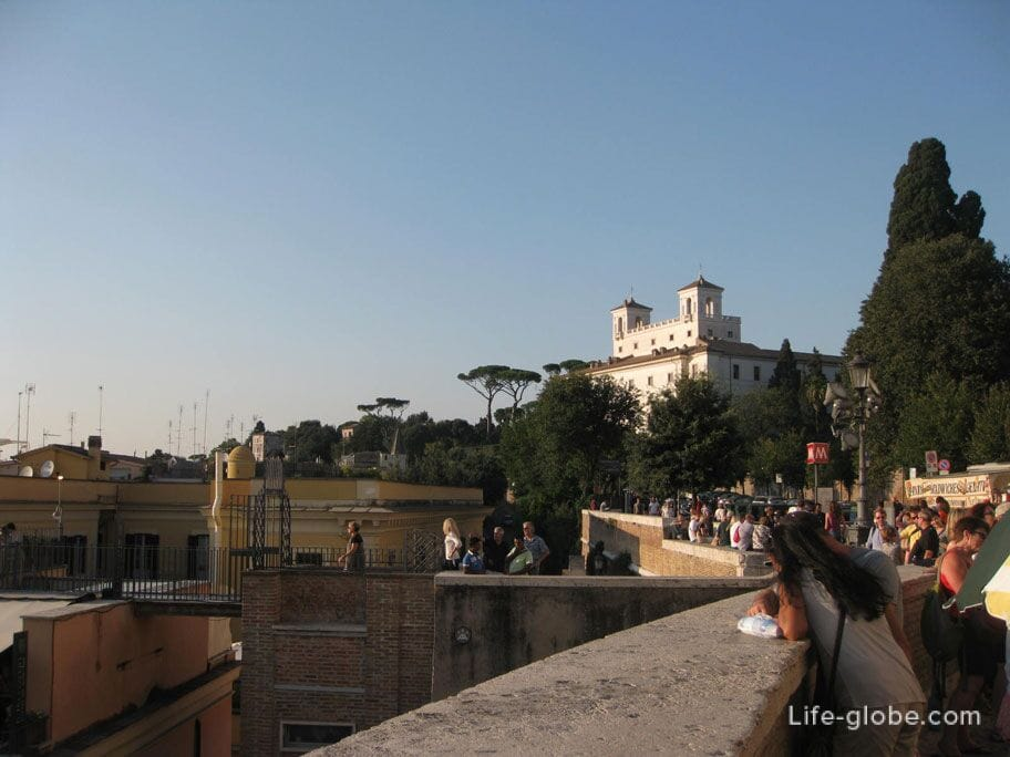 observation deck of Piazza di Spagna, Rome