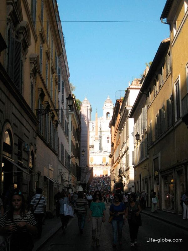 boutiques street in Rome