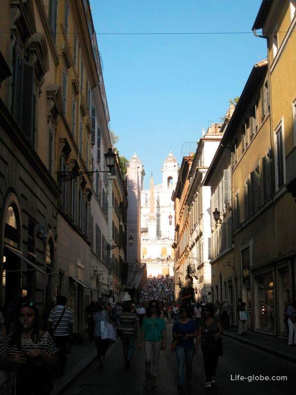 улица бутиков в Риме