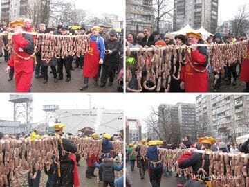 Праздник Длинной колбасы в Калининграде