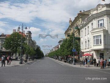 Проспект Гедимина в Вильнюсе - прогулочная улица города