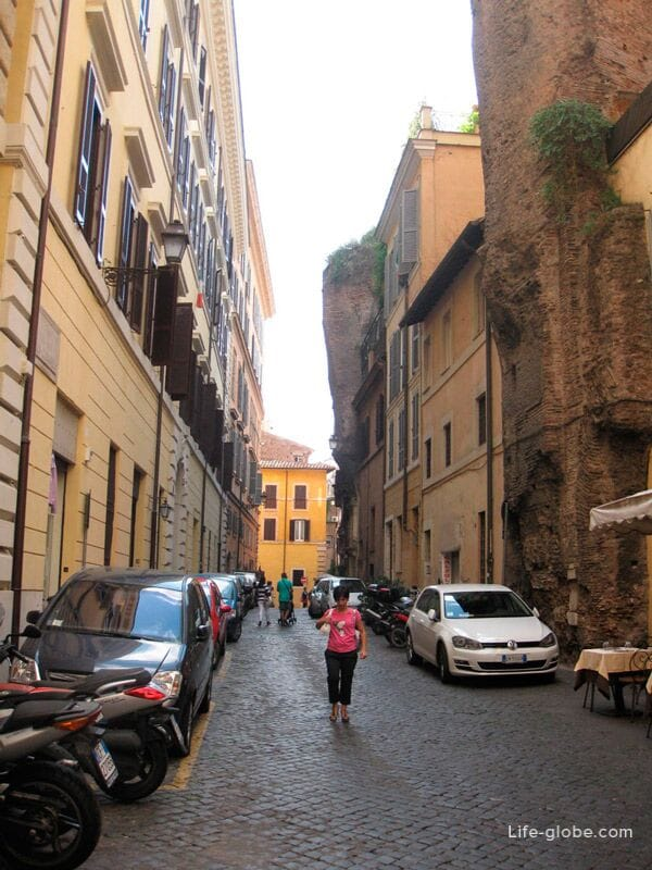 узкие улочки Трастевере, Рим, Италия