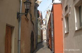 Тайны Латвии - самая узкая улица Риги - Розена