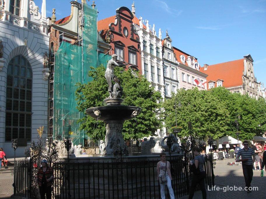 Neptune Fountain Gdansk
