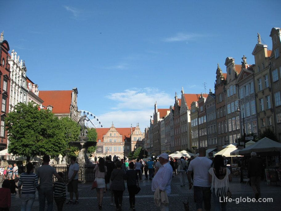 the central square of Gdansk