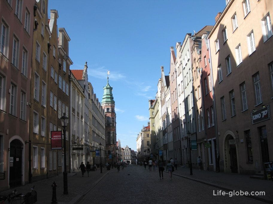 the center of Gdansk