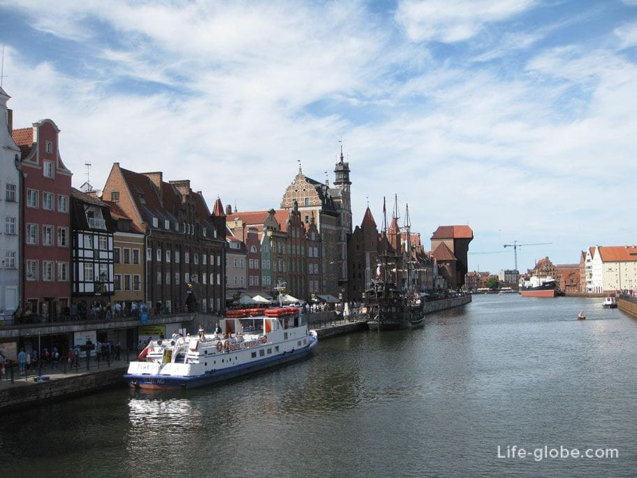 the embankment of the old town of Gdansk