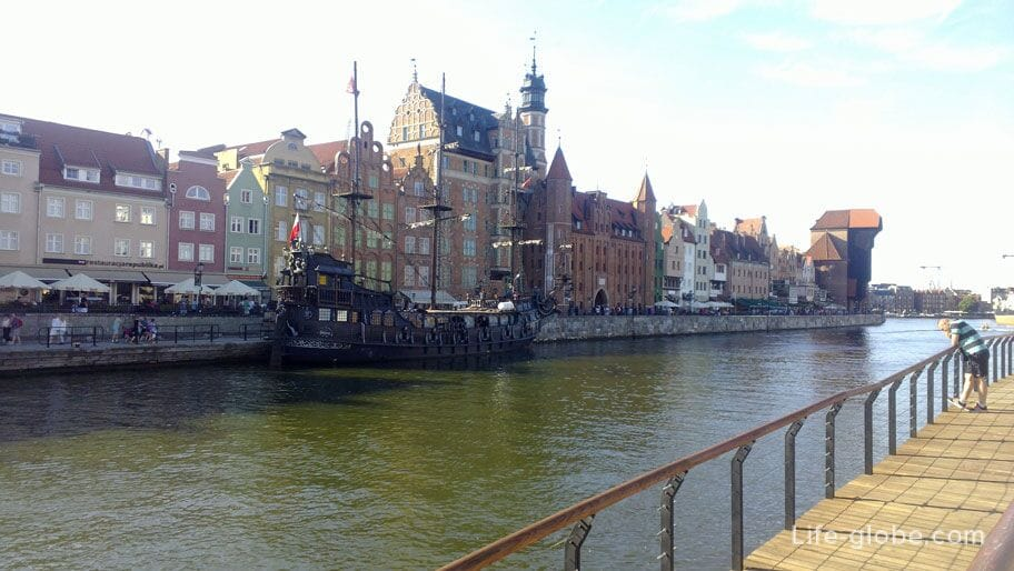 the embankment of the old place in Gdansk
