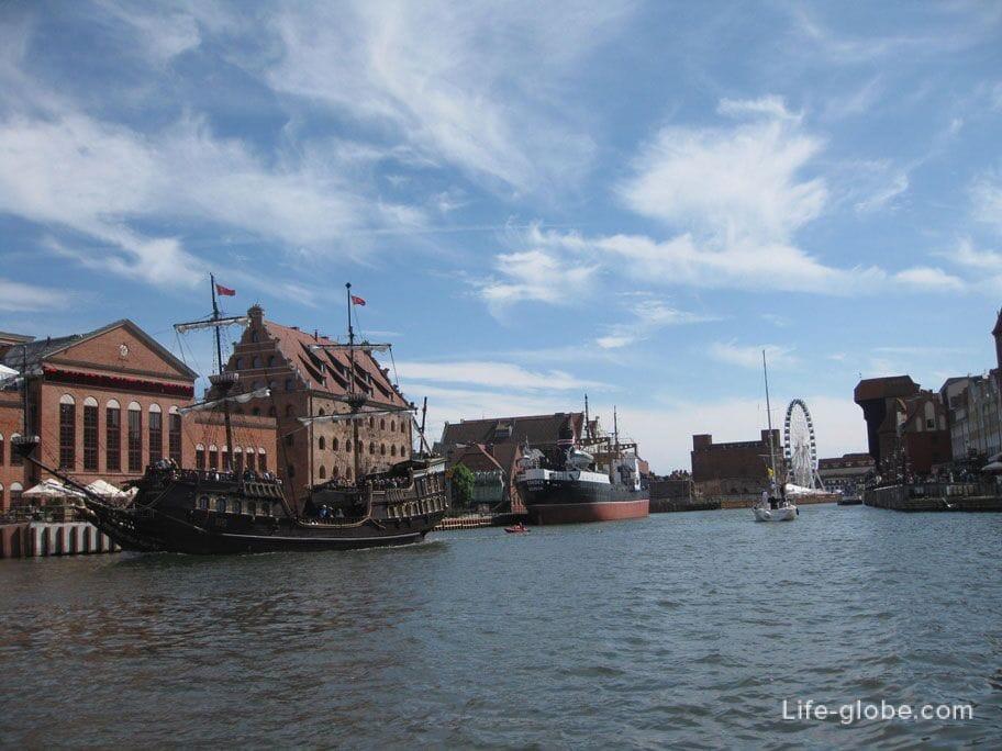 the historical center of Gdansk