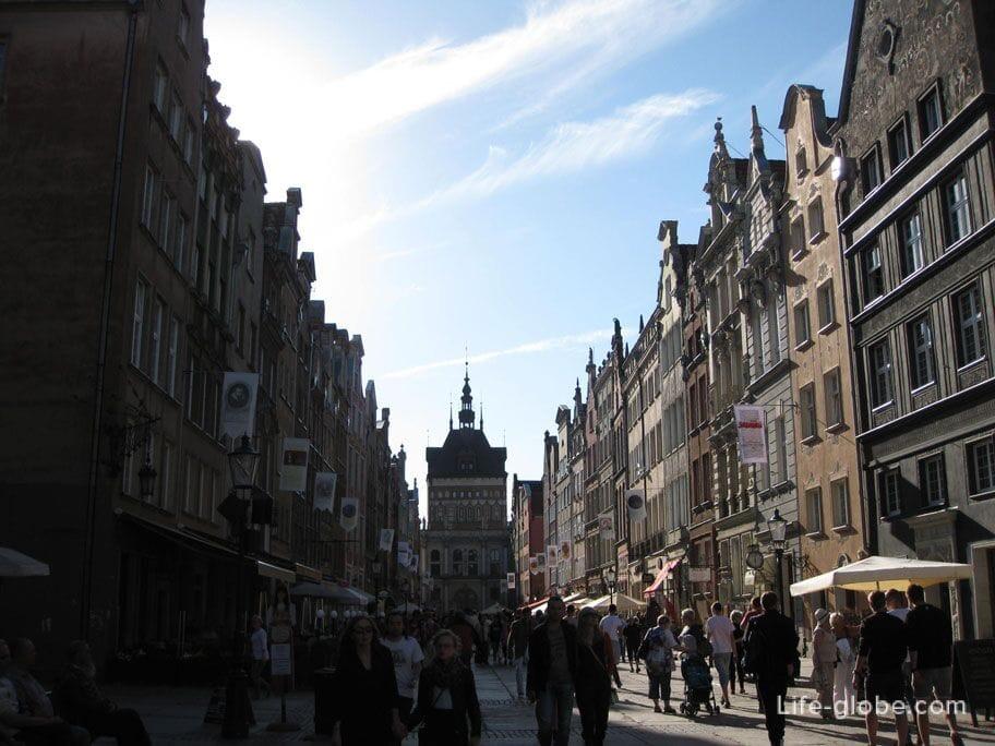 Dluga street old town Gdansk