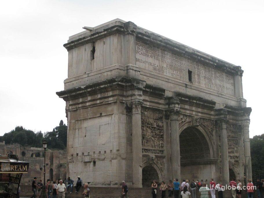 арка Септимия Севера в Риме