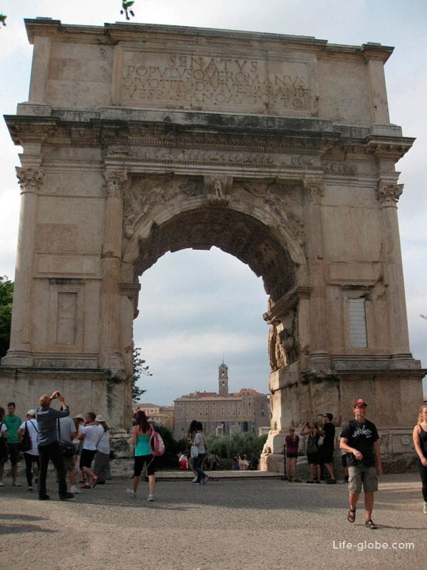 Triumphal Arch Titus Rome Italy